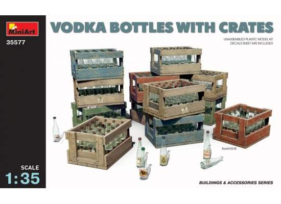 Miniart 35577 - 1:35 Vodka Bottles with Crates