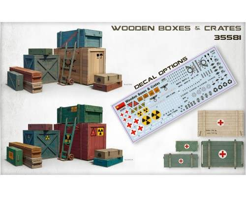 Miniart 35581 - 1:35 Wooden Boxes & Crates