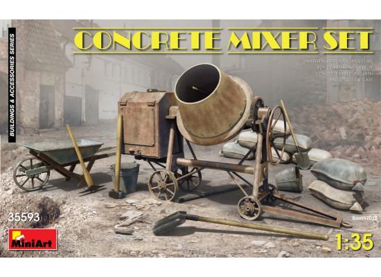 Miniart 35593 - 1:35 Concrete Mixer Set