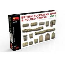 Miniart 35599 - 1:35 British Rucksacks, Bags & Folded Canvas WW2