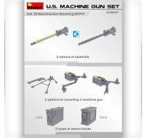 Miniart 37047 - 1:35 U.S. Machine Gun Set (with photo-etched parts)