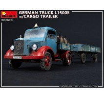 Miniart 38023 - 1:35 L1500S German 1,5t Truck with Cargo Trailer
