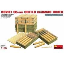 Miniart 35079 - Soviet 85-mm Shells w/ Ammo Boxes 1:35