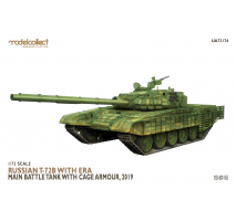 Modelcollect - 1:72 T-72B with ERA Main Battle Tank with cage armour, 2019