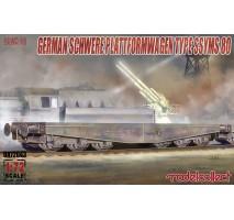 Modelcollect - 1:72 Schwerer plattformwagen type ssyms 80