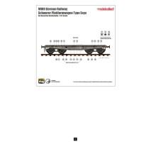 Modelcollect - 1:72 Schwerer Plattformwagen Type ssys 1+1 pack