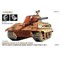 Modelcollect - 1:72 E-50 with anti-armour and night fighter 2 in 1