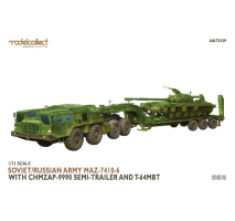 Modelcollect - 1:72 MAZ-7410-6 with ChMZAP-9990 semi-trailer and T-64 tank