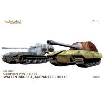 Modelcollect - 1:72 E-100 Waffenträger & Jagdpanzer E-100 (dual kit)