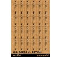 Plus Model - Cutii carton ratii militare K U.S. Army 1:35