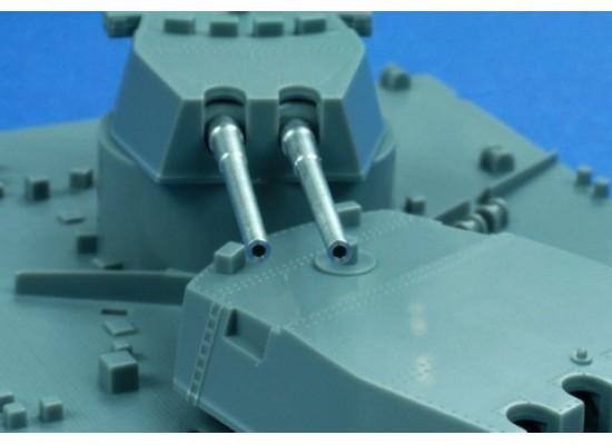 """RB Model - Metal barrel set 14"""" L/45 (35.6 cm) Mark VII 1:350"""