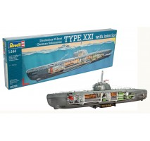 Revell 05078 - 1:144 U-Boot Typ XXI U 2540 with interior