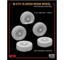 Rye Field Model 1001 - 1:35 M-ATV 16.0XR20 Sagged Resin wheel set