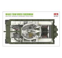 Rye Field Model 5042 - 1:35 M4A3 76W HVSS Sherman w/full interior