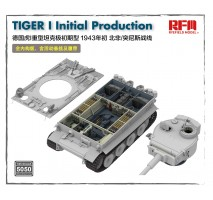Rye Field Model 5050 - 1:35 TIGER I Initial Production (Early 1943 North African Fronnt/Tunisia) FULL INTERIOR