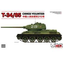 "Rye Field Model 5059 - 1:35 Soviet T-34/85 Chinese Volunteer ""215"""
