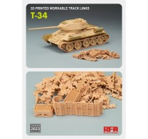 Rye Field Model 2023 - 1:35 Workable track links for T-34 (3D printed)