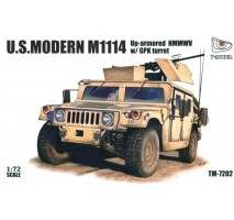T-Model 7202 - 1:72 US Modern M1114 Up-armored HMMWV w/ GPK Turret