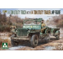 TAKOM 2126 - 1:35 US Willys Jeep + trailer (1 figure included)