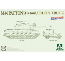 TAKOM 2117X - 1:35 US M46 PATTON + Willys Jeep (limited edition)