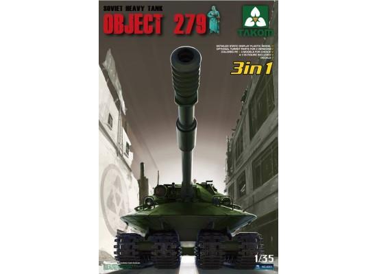 TAKOM 2001 - Soviet Heavy Tank Object 279 (3 in 1) 1:35