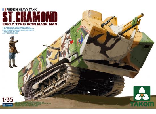 TAKOM 2002 - French Heavy Tank St.Chamond Early Type/Iron Mask Man 1:35