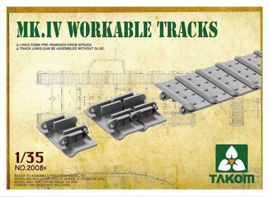 TAKOM 2008x - Mark IV Workable Tracks [Cement-free] 1:35