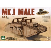 TAKOM 2031 - WWI Heavy Battle Tank Mk.I Male 2 in 1 (with crane and flat trailer) 1:35