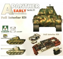 TAKOM 2097 - 1:35 WWII German medium Tank Sd.Kfz.171 Panther A early production w/ full interior kit