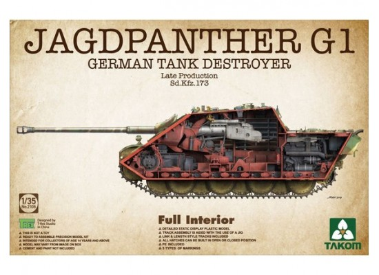 TAKOM 2106 - 1:35 Jagdpanther G1 Late (full interior)
