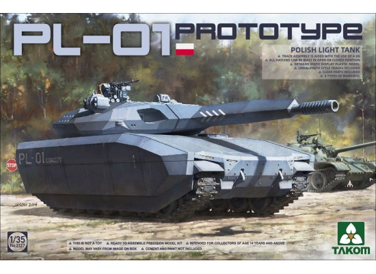 TAKOM 2127 - 1:35 Polish PL-01 Prototype Light Tank