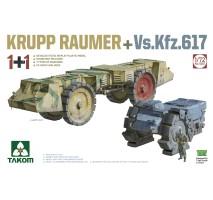 TAKOM 5007 - 1:72 KRUPP RAUMER+ Vs.Kfz.617 (dual kit)