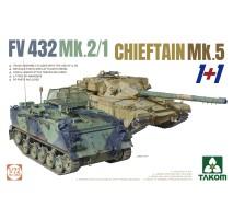 TAKOM 5008 - 1:72 FV432 Mk.2/1 and Chieftain Mk. 5 (dual kit)