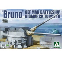 "TAKOM 5012 - 1:72 German Battleship Bismark Turret B ""Bruno"""