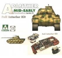 TAKOM 2098 - 1:35 WWII German medium Tank  Sd.Kfz.171 Panther A mid-early production w/ full interior kit
