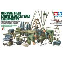 Tamiya 37023 - 1:35 German Field Maintenance Team Equipment Set w/2 figures