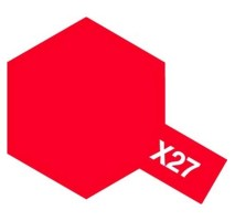 TAMIYA 81027 -X-27 Clear Red - Acrylic Paint (Gloss) 23 ml