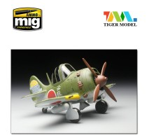 Tiger Model TT001 - Japanese Nakajima Ki84 Fighter and Pilot (cute plane)