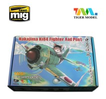 Tiger Model TT001 - Japanese Nakajima Ki84 Fighter and Pilot (cute plane)
