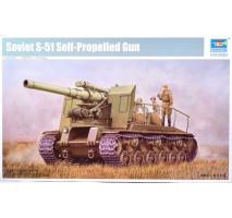 Trumpeter 05583 - 1:35 Soviet S-51 Self-Propelled Gun