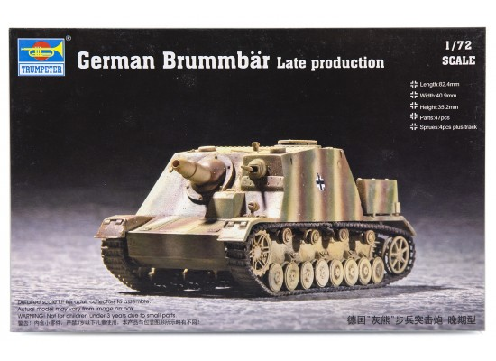 Trumpeter 07212 - 1:72 German Brummbär Late Production