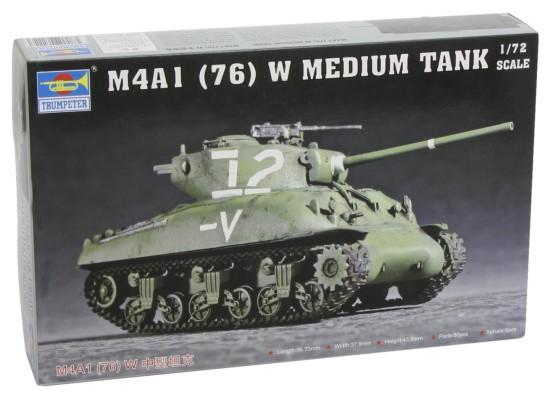 Trumpeter 07222 - 1:72 US Medium Tank M4A1 (76) W