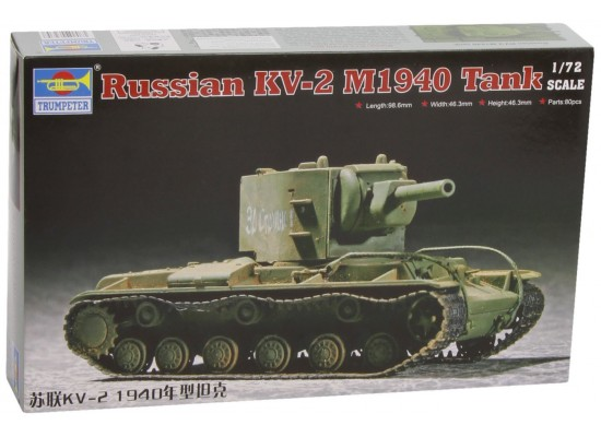 Trumpeter 07235 - 1:72 Soviet Kv-2 M1940