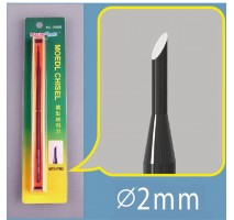 Master Tools 09926 Chisel R2 2mm, Round