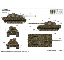 Trumpeter - Macheta tanc German King Tiger 2 In 1 (Henschel Turret & Porsche Turret) 1:16