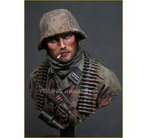 Young Miniatures bust - German Waffen SS Ardennes 1944 (Resin bust) 1:10