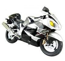 AOSHIMA AOS07992 - 1:12 SUZUKI GSX1300R HAYABUSA BLACK - DIECAST MOTORCYCLE