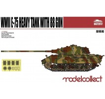 Modelcollect - 1:72 Germany WWII E-75 Heavy Tank with 88 Gun