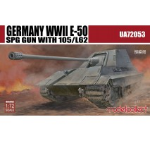 Modelcollect - 1:72 Germany WWII E-50 SPG GUN with 105/L62