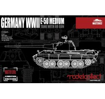 Modelcollect - 1:72 Germany WWII E-50 Medium Tank with 88 Gun